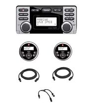 CLARION CMD8 MARINE CD + (2) MW1 WIRED REMOTES + (2) 25' EXT CABLES & Y CABLES