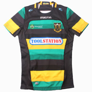 Northampton Saints Home Mens on Field Rugby Jersey with GPS Pocket Tight Fit