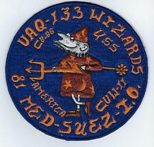 VAQ-133 Wizards, 81 Med-Suez-I.O.  (US Navy Squadron  Patch)(from sqdn, 1985)
