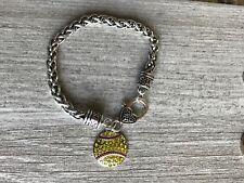 Gils Softball Rhinestone Charm Bracelet, Jewelry Gift for Players & Teams