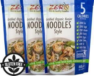 3 x ZERO Certified Organic Konjac Noodles Style 400g
