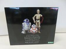 R2-D2 & C-3PO w/ BB-8 1/10 Scale Model Kit ArtFX Kotobukiya NIB! ZQ