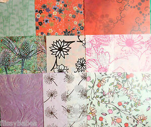 2 x A4 Vellum 112gsm Choice of Floral Themes NEW