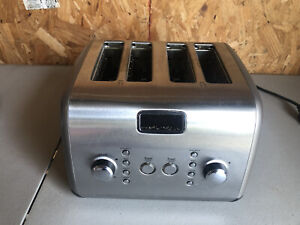 Kitchenaid KMT422CU1 KMT423CS1 Architect 4 Slice Stainless Steel Toaster READ