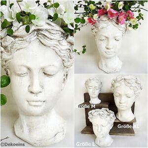 Pflanzkopf Frauen Pflanz kopf Garten Büste Blumen Topf Übertopf Antik Vintage