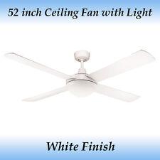 Genesis 52 Inch (1300mm) White Ceiling Fan With Light
