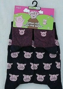 New PERCY PIG Socks Parent And Child (CHILD Age 2-3 ADULT One size Mini Me M&S