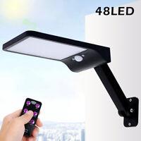 Lampada Solare 48LED faretto Luce pannello Fotovoltaico sensore movimento PIR