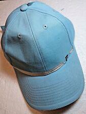 Women's FILA Sport Adjustable Baseball Cap Hat Baby Blue / White Golf Sun Visor