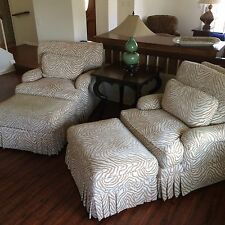 """2 LARGE CHAIRS w/ OTTOMAN  """"Taylor king"""" *Price Is For BOTH!!*"""