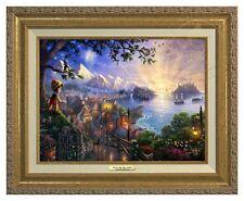 Thomas Kinkade Pinocchio Canvas Classic (Gold Frame) Disney