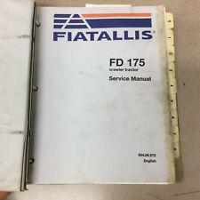 Fiat Allis Fd175 Crawler Tractor Bulldozer Service Shop Repair Manual Ts Guide