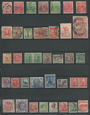 2 Scans - Australia Small Collection Lot of 55 Used Stamps - CV$28.05