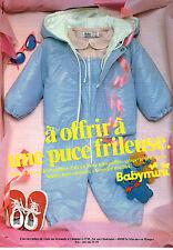 PUBLICITE ADVERTISING 114  1981  BABYMINI   vetements bébé salopette