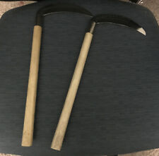 NEW Steel Bladed Kamas (Pair) Weapons Martial Arts Training With Bag