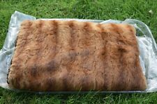 Large Brown Fur Muff Hand Warmer w/Lining and Strap