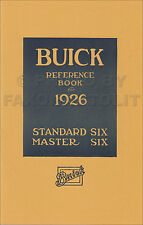 1926 Buick Owners Manual Master 6 Standard Six Reference Book Owner User Guide