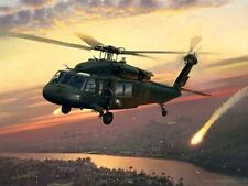 Returning Fire [UH-60 Black Hawk Helicopter]CANVAS William S Phillips 101st A.B.