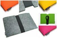 Microsoft Surface Pro 7 / 7+ felt sleeve case wallet WITH STRAP, UK MADE
