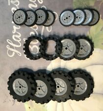 K'Nex Assorted Lot of Wheels Tires Various Sizes and Knex motor, Used