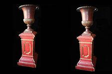 Paires de colonnes et vases en fonte de très grande taille/Pair of big Vases