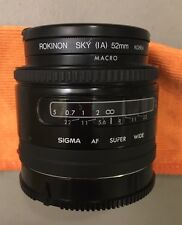 Sigma Super Wide II - 24mm f/2.8 Macro Lens For Minolta EXC+
