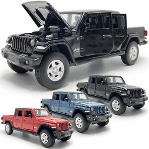 Jeep Wrangler Gladiator Pickup Truck 1:32 Model Car Diecast Gift Toy Vehicle Kid