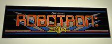 Williams Robotron Arcade Game Marquee on lexan