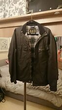 Barbour International motorcycle jacket Wax Black small excellent condition