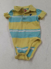 Wrangler blue, yellow, white striped polo shirt bodysuit sz 18 mos.