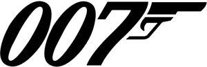 "9""x29"" 007 James Bond vinyl decal sticker Spy 60's Sean Connery"