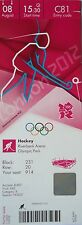 TICKET Olympia 8.8.2012 Women's Hockey Niederlande - Neuseeland C81