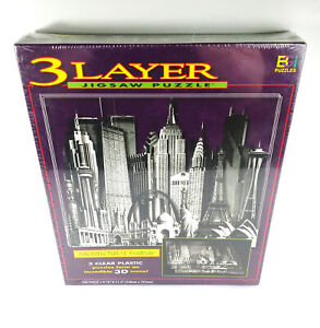3 Layer Jigsaw Puzzle Architectural Fantasy 540 Pieces 3D Buffalo Games Sealed