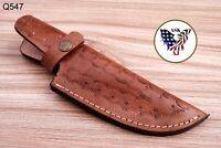 Custom Hand Made Pure Leather Sheath For Fixed Blade Knife - Q 547