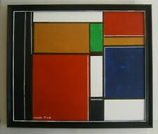 AN ORIGINAL MODERNIST ABSTRACT PAINTING  - SIGNED