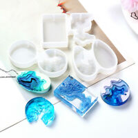 Transparent Silicone Epoxy Resin Molds Jewelry Pendant Making Moulds DIY Crafts