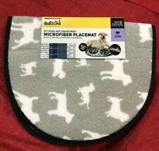 Pet Bowl Mat Microfiber Placemat Absorbent Slip Resistant 12.5 inch x 21.5 inch
