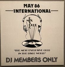 MAY 86 INTERNATIONAL DISCO MIX CLUB DMC DJ MEMBERS ONLY UK VINYL