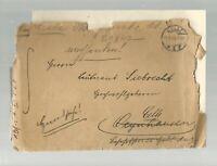 4001- 1915 Feldpostbrief ( m. Inhalt ) 2. Hann. Inf. Rgt. 77 Celle