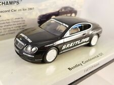 "Minichamps 1:43 Bentley Continental GT ""World Record Car on Ice""  436139026"