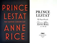 Anne Rice SIGNED & DATED~Prince Lestat~1st/1st + Photos!! Vampire Chronicles
