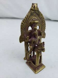 "Superb antique / vintage Indian Hindu bronze figurine 4 1/2"""