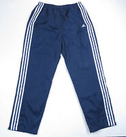 Vintage 90s Adidas Blue Spell Out 3 Stripes Windbreaker Lined Track Pants Mens L