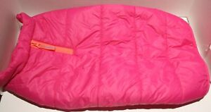 Boots and Barkley Bright Pink Puffer Fleece Lined Dog Jacket - S, M, or XL