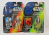 Star Wars POTF Action figures Kenner 1995 Han Solo & 1996 Rebel Fleet Trooper