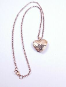 Rose Gold Locket and Chain 9 carat Heart shaped