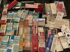 Vintage Sewing Notions Huge Lot Very Unique Zippers Buttons Etc!