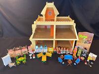 "1980s Mattel ""The Littles"" Home Dollhouse W/8 Dolls & Lot Of Furniture Sets VTG"