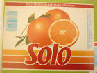 NORWAY SOFT DRINK CORDIAL LABEL, 1980s HANSA BRYGGERI BERGEN, SOLO ORANGE Lg 1