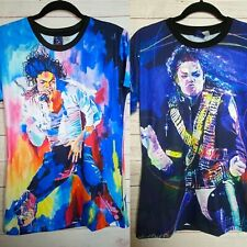 (2) Mr.1991 & Miss Go Michael Jackson Double Sided Graphic Tee Shirt Size XL